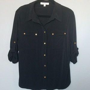 Ellen tracy button down blouse large